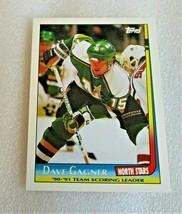 1991-92 Topps Team Scoring Leaders Dave Gagner #7 Minnesota North Star C... - $1.82