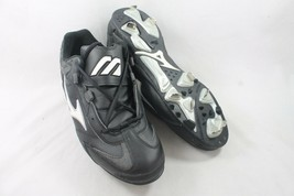 Mizuno Womens Baseball Cleats 9 Spike Strike Low Softball Shoe Metal Bla... - $19.79