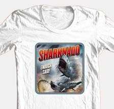 Sharknado T-shirt b-movie sci fi horror film 100% cotton graphic white tee image 1