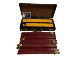 Vintage Butterscotch Bakelite Mah Jongg Set MET Games Perching Parrot USA Made image 1