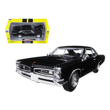 1966 Pontiac GTO Black Muscle Car Collection 1/25 Diecast Model Car by New Ra... - $33.92