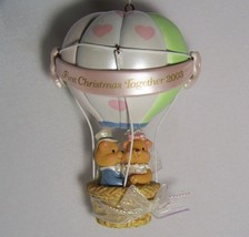 2003 First Christmas Together Ornament Bride Groom Bears Hot Air Balloon... - $13.15