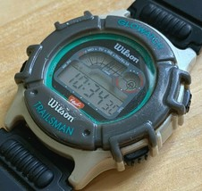 Vintage Wilson Trailsman Men Digital Quartz Alarm Chrono Watch Hours~New Battery - $18.99