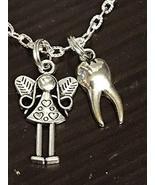 Good Quality Tooth Fairy Dental Dentist Mix B Charm Tibetan Silver Neckl... - $13.35