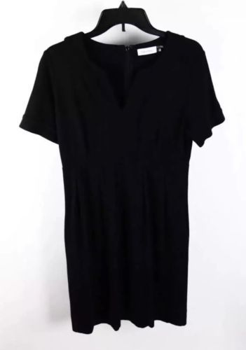 Primary image for Calvin Klein Black Short Sleeve Tunic Shift Dress 6