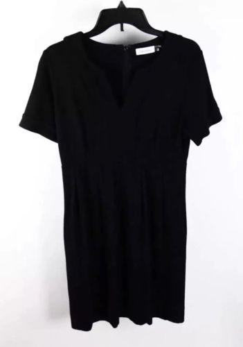 Calvin Klein Black Short Sleeve Tunic Shift Dress 6