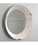 Rustic New distressed tan chippy Large hanging Round Dutch Wall Mirror - $99.99