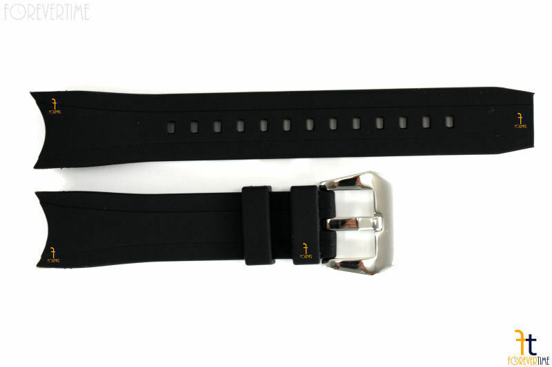 Primary image for 22mm Fits Citizen BJ2115-07E Black Rubber Watch Band BJ2117-01E 59-S53296