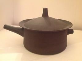 Dansk Flameware Brown Covered Casserole Pot Denmark IHQ Quistgaard Mid Century - $66.75