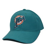 Miami Dolphins NFL Team Apparel Teal Adjustable Structured Football Cap Hat - $17.09