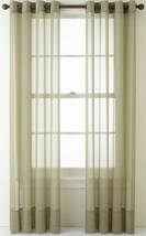 "NEW Liz Claiborne Lisette Grommet Sheer Curtain Panel 50"" x 84"" Evening ... - $17.95"