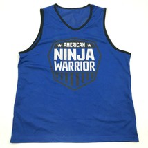NEW American Ninja Warrior Jersey Tank Top Youth One Size Fits Most Blue... - $27.33