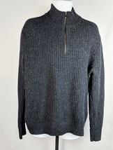 Gap Mens Blue 1/2 Zip Wool Blend Sweater Size XL - $13.45