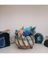 Handmade Ceramic Plant Pot with Preserved Flower Eternal Rose Floral Arr... - $27.95+