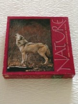 Howling Wolf 1000 piece puzzle New Sealed Milton Bradley Nature 1999 - $15.99