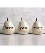 """Great Handmade Piece of Art gift for Mother's Day,White Clay""""love you mo... - $49.37"""