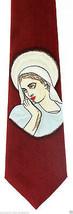Virgin Mother Mary Men's Necktie Christian Religious Gift Jesus Red Neck... - $15.79