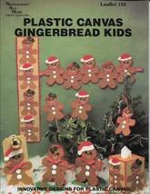 Needlecraft Ala Mode Leaflet 133 Plastic Canvas Gingerbread Kids - $10.00