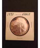 1990 Silver Eagle One Ounce Fine Silver Dollar Troy Ounce - $100.00