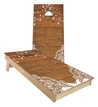 Barn Wood Wedding Lights cornhole boards - $179.00