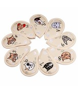 9 Pcs Portable Golf Club Headcovers Cute Cartoon Cat Pattern PU Waterproof - $36.39