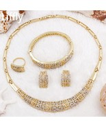 2019 Creative New Design 18 Gold Jewelry Sets Charm Women Crystal Neckla... - $42.98