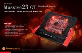 Thermaltake Massive 23 GT 200 mm Adjustable Laptop Notebook Cooling Pad ... - €43,58 EUR