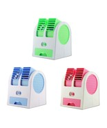 Vertical rotate Cooling Portable Desktop Dual Bladeless Air Conditioner Fan - $12.99