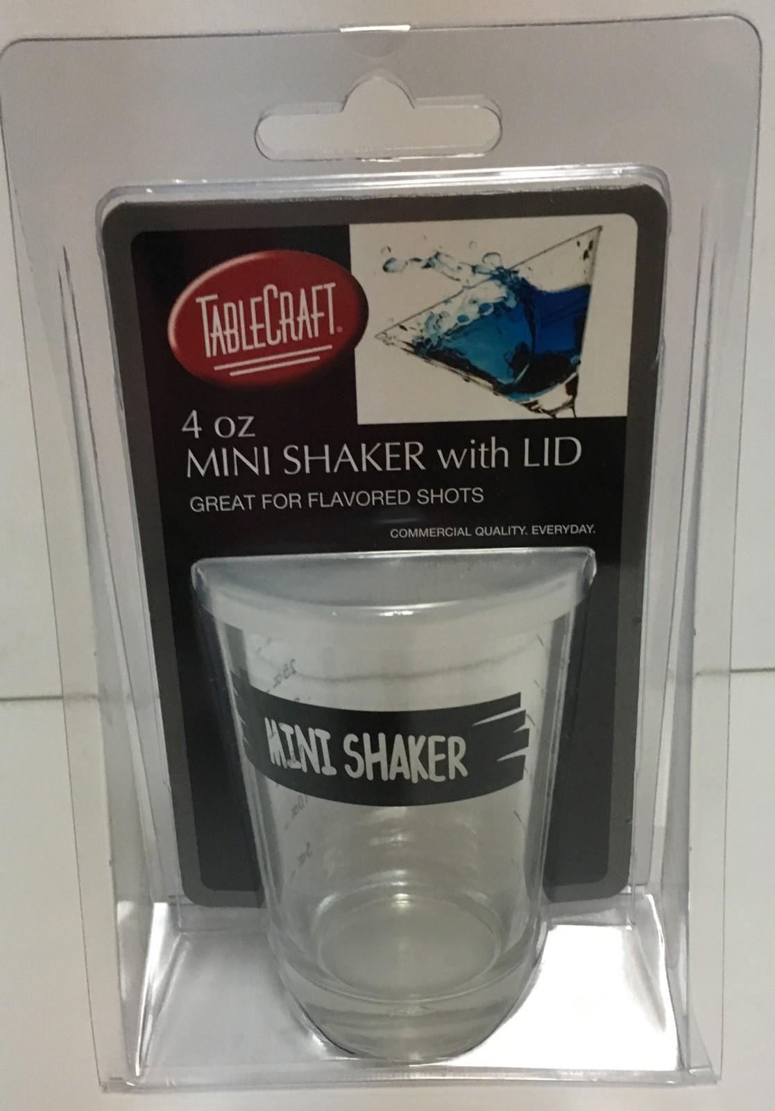 Mini Shaker w/Lid Table Craft 4 OZ Bar Shots NEW