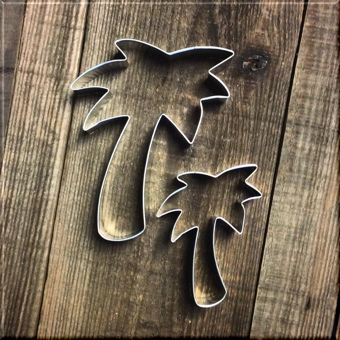 Set of 2 Palm Tree Metal Cookie Cutters #NAWK160