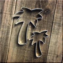 Set of 2 Palm Tree Metal Cookie Cutters #NAWK160 - $2.50