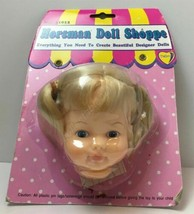 "Gata Box Horsman Doll Shoppe Head for 12"" Doll Blonde Hair Blue Eyes - $17.77"
