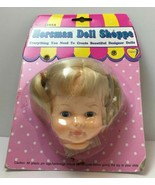 "Gata Box Horsman Doll Shoppe Head for 12"" Doll Blonde Hair Blue Eyes - $17.77"
