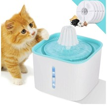 Cat Water Fountain Pet Drinking Dispenser with LED Light Water Level Win... - $27.24