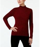 Karen Scott Women's Red Marl Ribbed-Knit Turtleneck Sweater Petite Size ... - $19.57