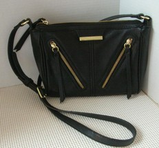 Black NINE WEST Small Handbag Cross Shoulder Bag Faux Leather Purse - $19.38