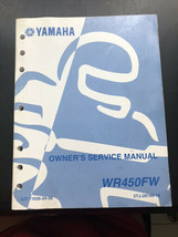Used Yamaha Service Manual LIT-11626-20-56 WR450FW - $16.95