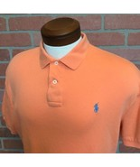 Polo By Ralph Lauren Mens L Shirt Short Sleeve Orange With Blue Pony Sof... - $16.82