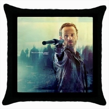 Throw pillow case cover the walking dead zombies rick  - $19.50