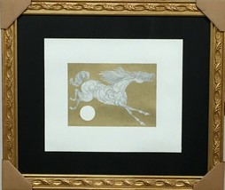 """GUILLAUME AZOULAY """"SIMPLE STUDY"""" ORIGINAL PEN & INK DRAWING WITH H/COLOR... - $895.50"""