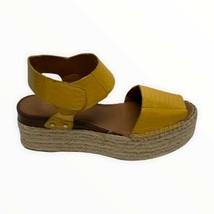 Sarto Franco Sarto Leo 2 Espadrille Wedge Sandals Yellow Snakeprint Size 6.5 - $35.63