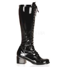 "Sexy Black Retro Gogo Halloween Costume 2"" Heel Knee High Boots RET302/B - $59.35"