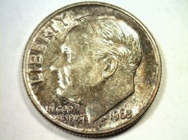 1963 ROOSEVELT DIME CHOICE UNCIRCULATED CH. UNC. SUPER IRRADIATE OBVERSE... - $24.00