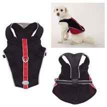 REFLECTIVE BREATHABLE MESH HARNESS for DOGS - Red & Black Medium - CLOSEOUT - $31.37