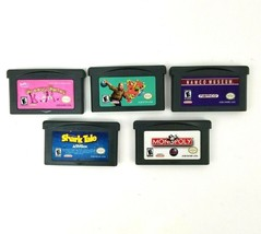 Lot 5 Nintendo Game Boy Advance Games Monopoly Shark Tale Ten Pin Alley ... - $20.53