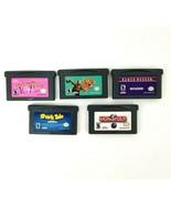 Lot 5 Nintendo Game Boy Advance Games Monopoly Shark Tale Ten Pin Alley ... - $20.53