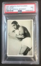 1937 Ardath Photocards Topical Interest Boxing Joe Louis PSA 7 NRMT - $88.11