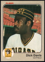 1983 Fleer #305 Dick Davis EX/NM Pirates - $0.75