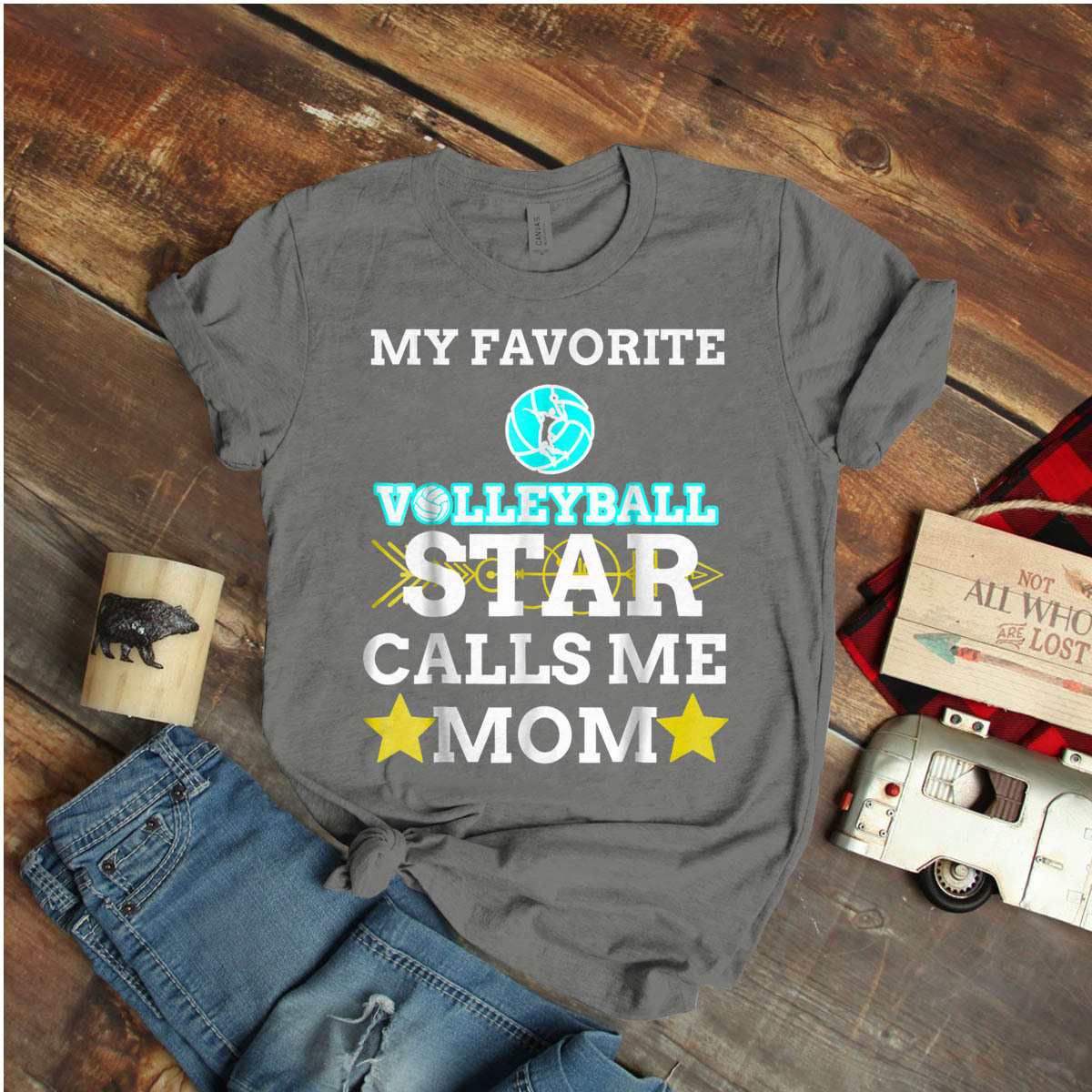 Volleyball Star Calls Me Mom Mother'S Day Ideas Birthday Gift Vintage Funny