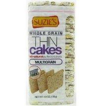 Suzie's Organic Thin Puffed Cakes, Multigrain, 4.9oz (Pack of 6) - $47.97